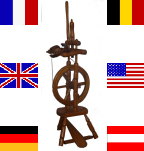 Spinning wheel with flags